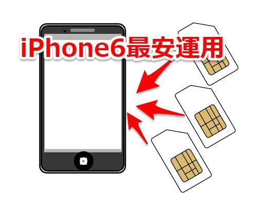 iPhone6最安運用