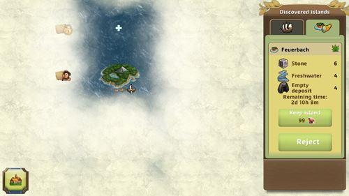 島で採取可能な資源が表示