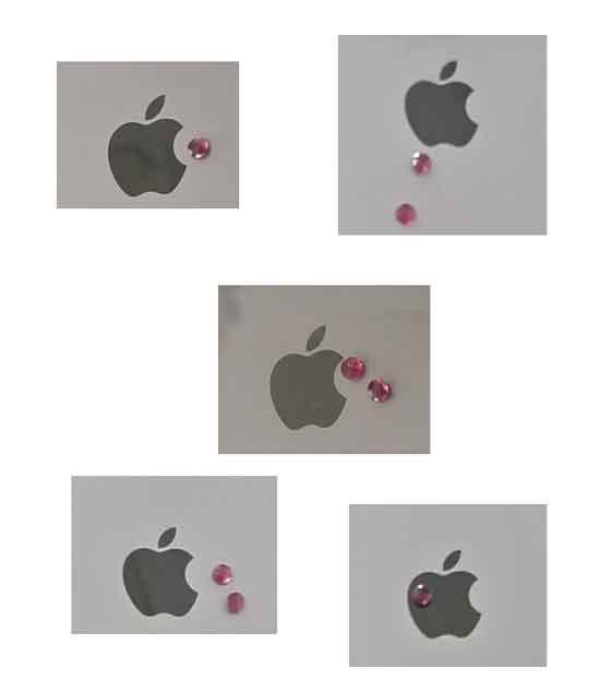 林檎とルビー配置