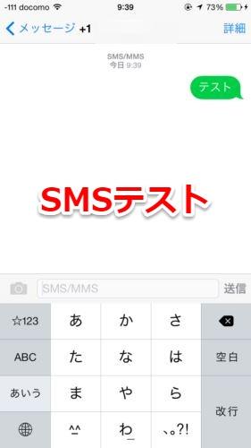 日本からSMS