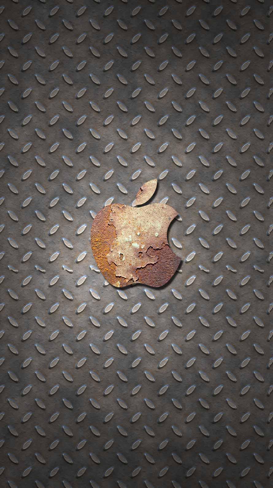 Iphone用 錆た金属とメタルで廃工場風のオリジナル壁紙 スマホlabo