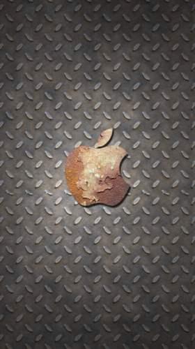 錆びたアップルロゴ