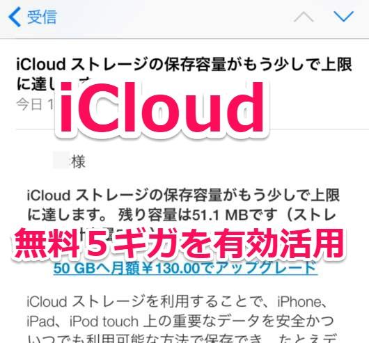 iCloudの容量節約