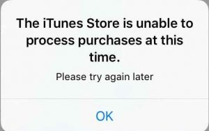 【iPhone】iTunesストアで障害発生中「 The iTunes Store is unable to process purchases at this time.」