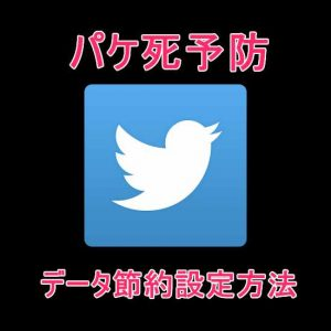 【iPhone/Android】Twitterアプリの画像設定でデータ通信料を節約するパケ死予防方法