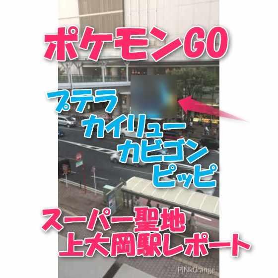 【ポケモンGO】プテラ・カイリュー・カビゴン・ピッピの巣『上大岡駅付近』は神聖地?本当か検証レポート