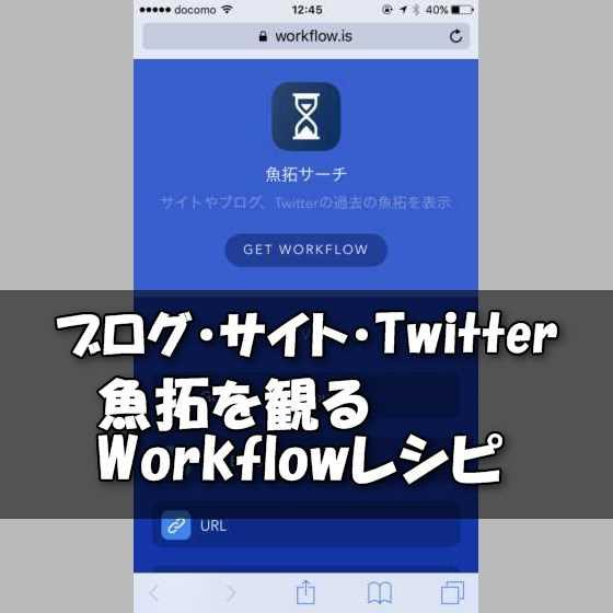 【iPhone】消えたブログやTwitterアカウント、過去のサイトのweb魚拓を閲覧・保存する方法【Workflowレシピ付き】