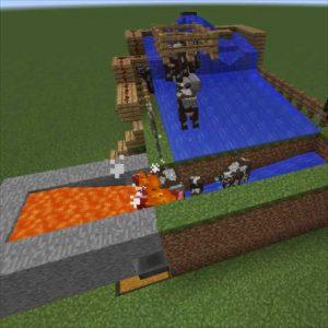 【Minecraft(PE対応)】最新版!超簡単な自動焼き肉製造機の作り方