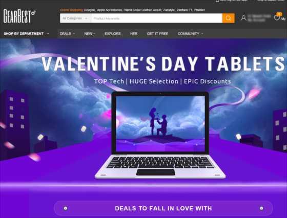 『GearBest』タブレット・ノートPCが特価!タブレット特集セール(更に割引クーポン付)