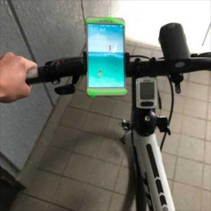 端末をガッチリホールドするシリコンバンド式の自転車ホルダーZNT-D201【レビュー】