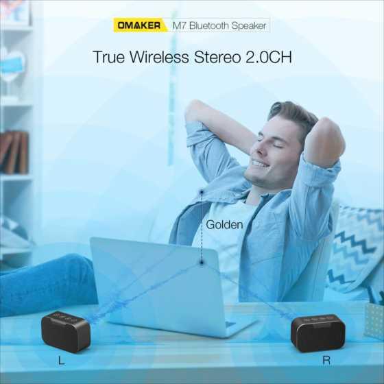 【Amazonクーポン情報】ネコの日割引!OMAKER BluetoothスピーカーM7が20%オフ