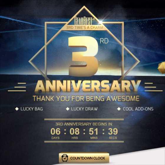 【お祭りセール情報】GearBestが創業3周年記念イベント開催!期間中は端末類・ガジェットが投げ売り価格で買えるぞ!