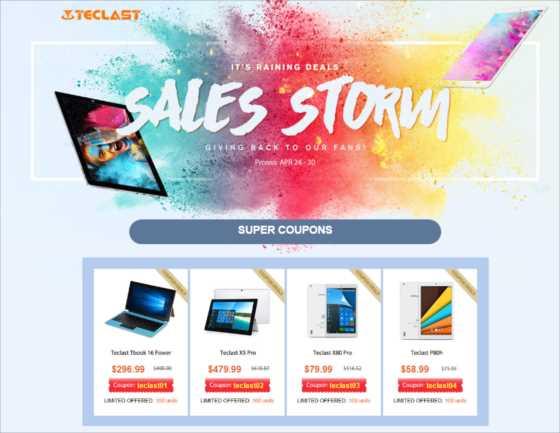 【Gearbest】中華タブレットメーカーTECLAST製品X80シリーズが最安で58ドルから!