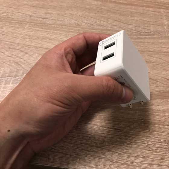旅行や持ち運びに便利なQuick Charge3対応のコンパクト充電器『dodocool2ポートQC3.0急速充電器』【レビュー】