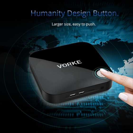 カスタマイズできるミニPCで人気のVORKE V1の新型機Apollo Lake CPU, 64GB SSD搭載「VORKE V1 Plus」発売