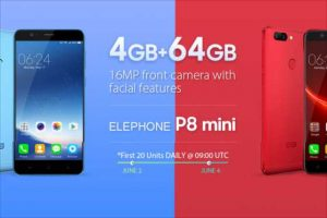 【Geekbuying】 超超高コスパの可愛い5インチ端末『Elephone P8 Mini』が毎日20台99ドル!