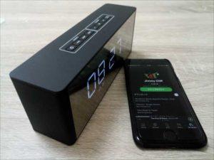 ベットサイドスピーカーに最適!『Docooler 時計付きBluetoothスピーカーLP-06 』【レビュー】