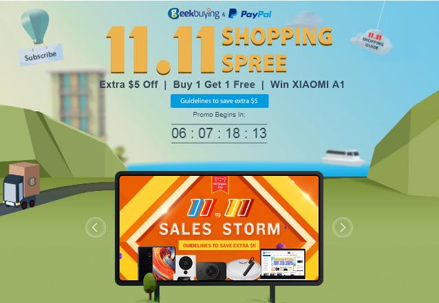 【Geekbuying】最大級のセール開催!ダブル11『独身の日』記念大セール