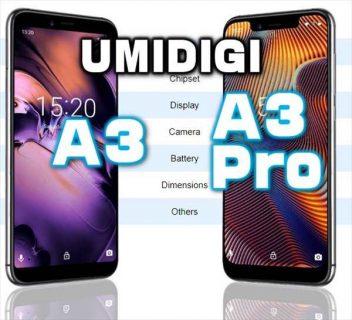 8千円台で買えるドコモプラチナバンド対応端末「UMIDIGI A3 / A3 Pro」性能・スペックレビュー
