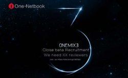 ウルトラモバイルPC『One Netbook OneMix 3』ベータ版サンプルモニター募集開始!価格・発売日・スペック