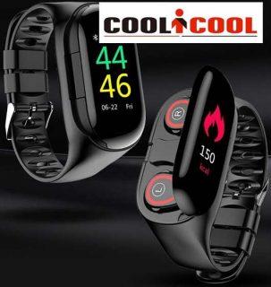 【発売セール】Bluetoothイヤホン内臓スマートリストバンド「Mafam M1 Smart Wristband」【COOLiCOOL】