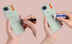 ボールペンで書いて消しゴムで消せる「wemo(ウェモ)」iPhoneケースタイプ発売