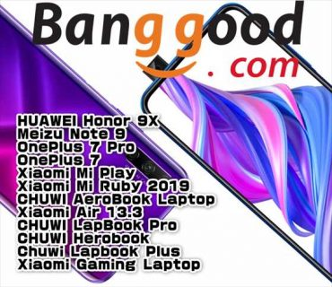 【BangGood最新クーポン】ポップアップカメラ端末「HUAWEI Honor 9X」が$379ほか