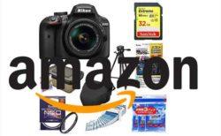 【Amazonタイムセール祭り9月23日】Nikon デジタル一眼レフカメラ D3400アクセサリー8点セットが¥43,024
