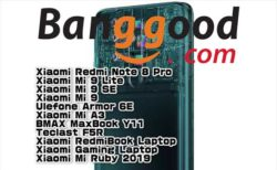 【BangGoodクーポン】6400万画素ミドルレンジ端末「Xiaomi Redmi Note 8 Pro」$259.99ほか