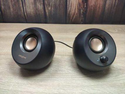 【レビュー】2,980円の重低音コンパクトPCスピーカー「Creative Pebble V2」
