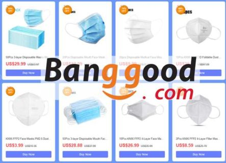 【BangGoodクーポン】品薄のN95規格マスクなど衛生用品キャンペーン開催ほか