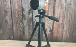 【レビュー】800円の激安の軽量カメラ三脚が全部入りだった 「オーム電機 OHM OCT001-K」