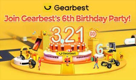 【GearBest】6周年記念のビックセール開催!