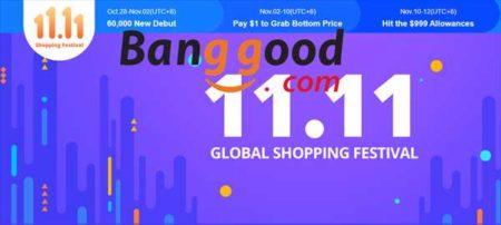 【Banggood】11.11独身の日ショッピングセール開催