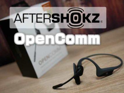 【レビュー】テレワーク向けブームマイク搭載の骨伝導ヘッドセット「AfterShokz OpenComm」