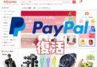 Aliexpress支払いにpaypal(ペイパル)が復活!日本から使えるか幾つも買ってチェックしてみます