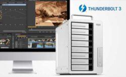 【TerraMaster】8ベイで4Kビデオ編集業務を加速する最高2,100MB/sのThunderbolt 3ストレージ