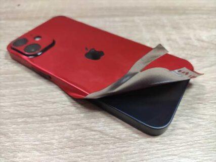 iPhone12 mini用メタリックPVCのフィルムフルカバー式ステッカーケース【レビュー】