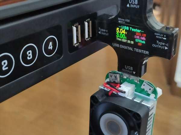 USB-Cポートは5.04V / 3 A(約15W)