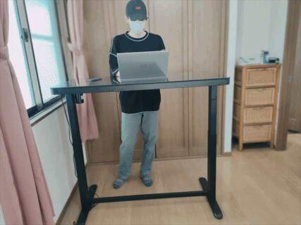 【レビュー】立つ・座る両用でカラダへの負担軽減!電動昇降式のスタンディングデスク「FLEXISPOT EG8」